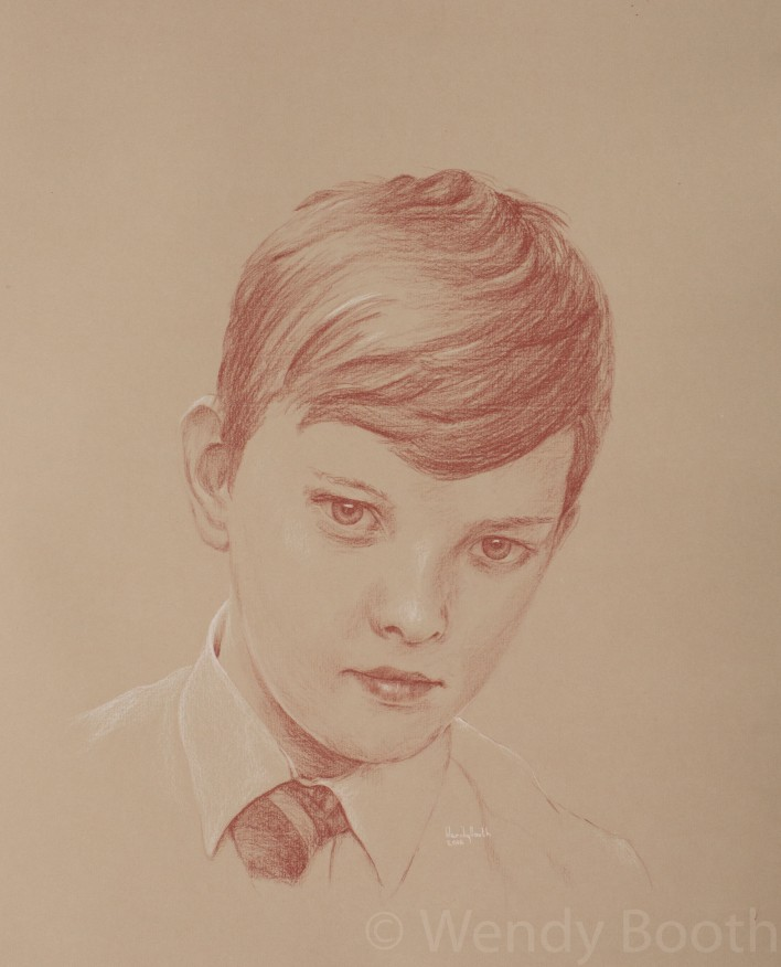 Portrait Artist Commission: Twelve year old boy - that elusive moment between innocence and insolence