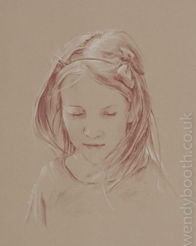 Low-res photographs can be perfect for this loose style of smaller drawing.
