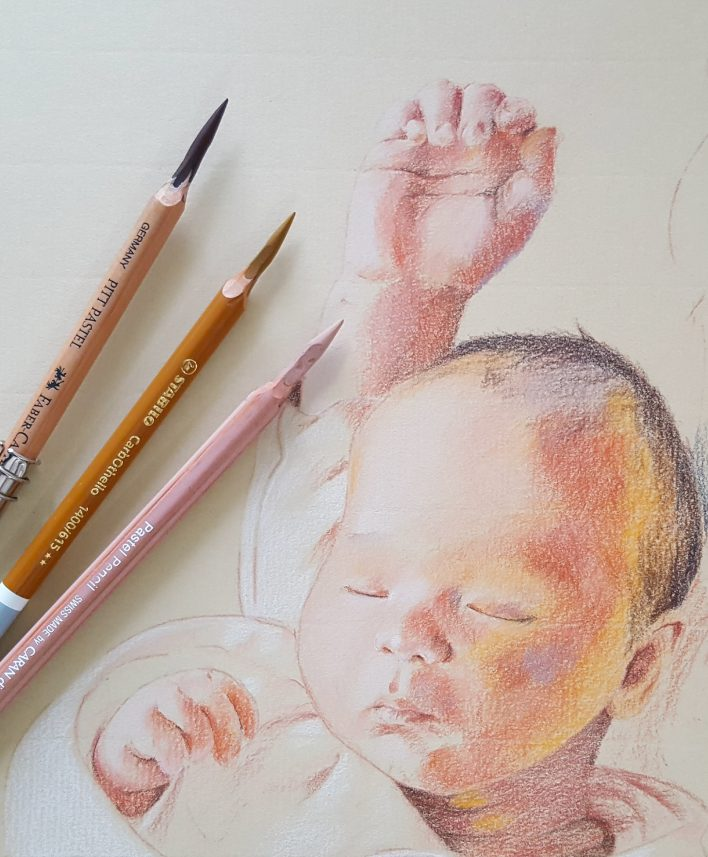 Pastel Pencil Portrait Choice